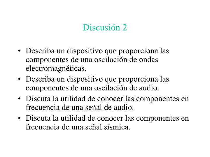 Discusión 2