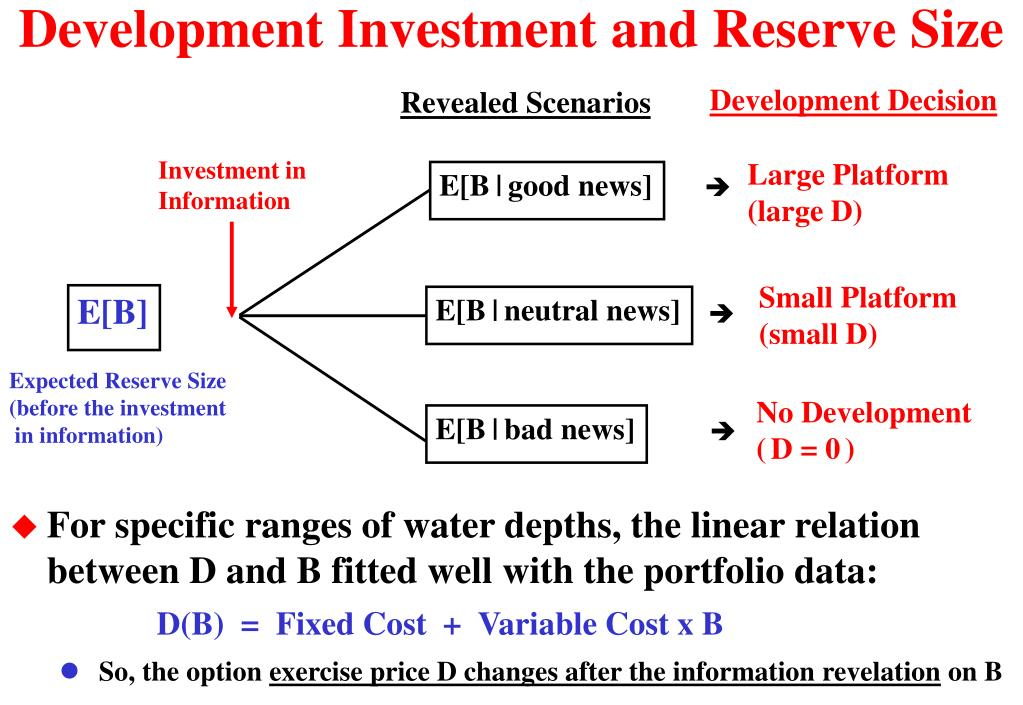 Development Investment and Reserve Size
