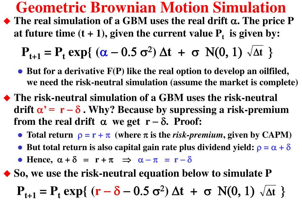 Geometric Brownian Motion Simulation