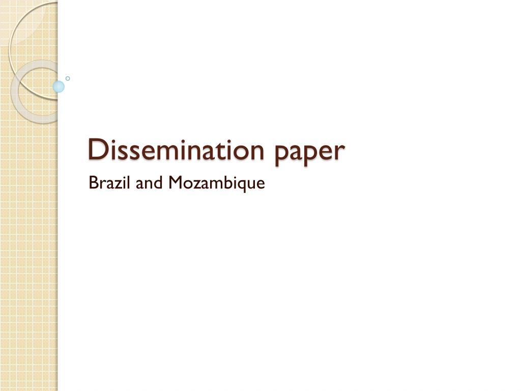 Dissemination paper