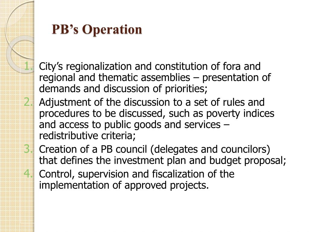 PB's Operation