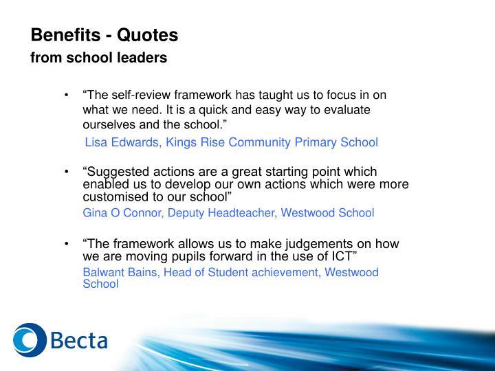 Benefits - Quotes