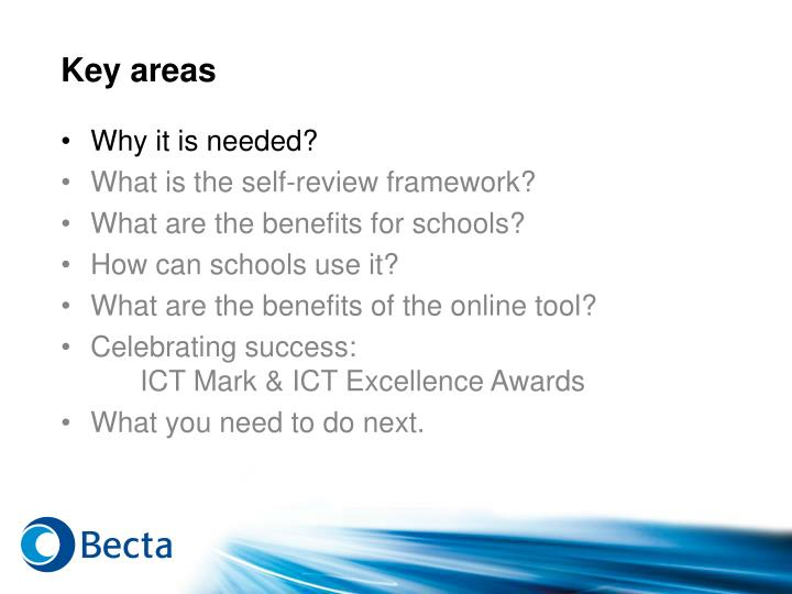 Key areas1