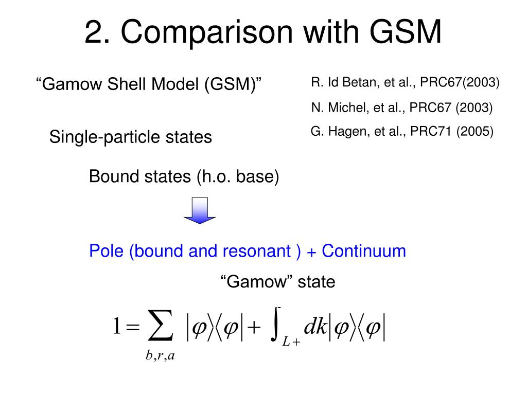 2. Comparison with GSM