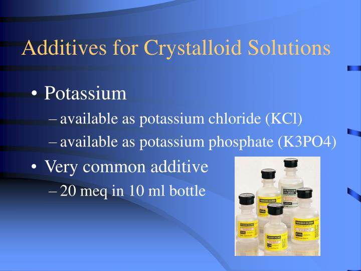 Additives for Crystalloid Solutions