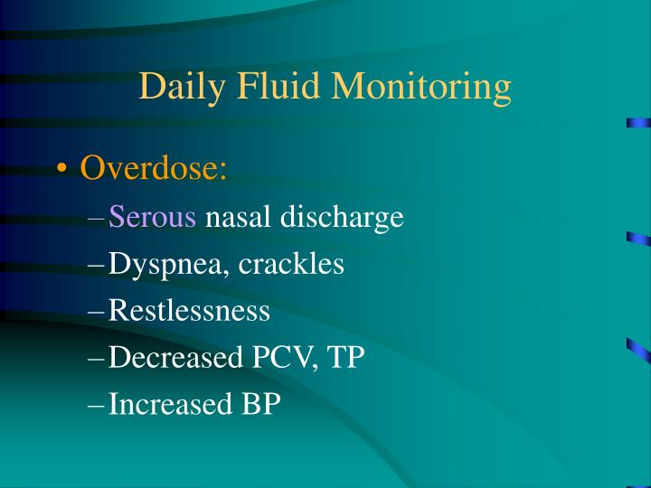 Daily Fluid Monitoring