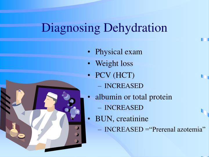 Diagnosing Dehydration
