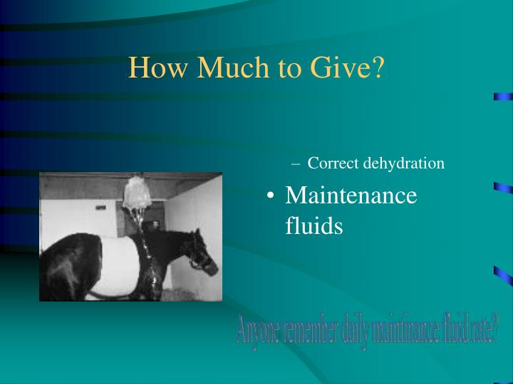 How Much to Give?