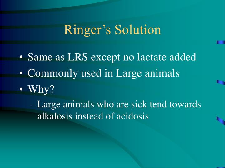 Ringer's Solution