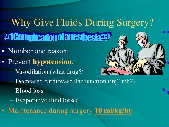 Why give fluids during surgery