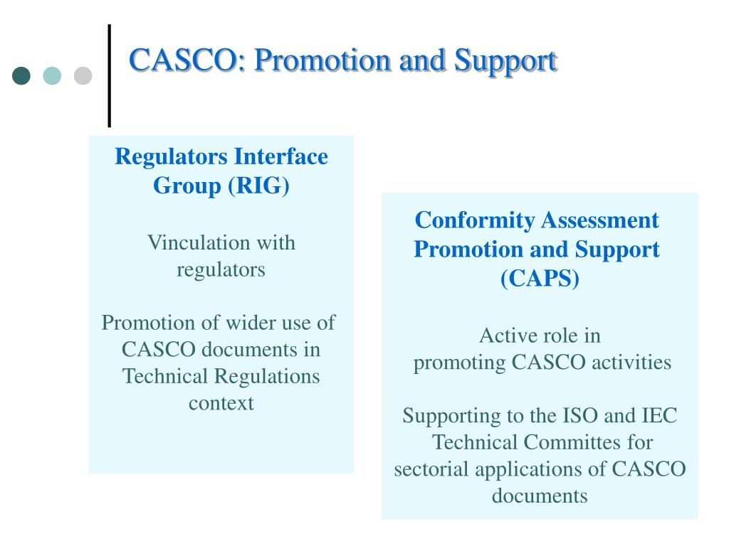 CASCO: Promotion and Support