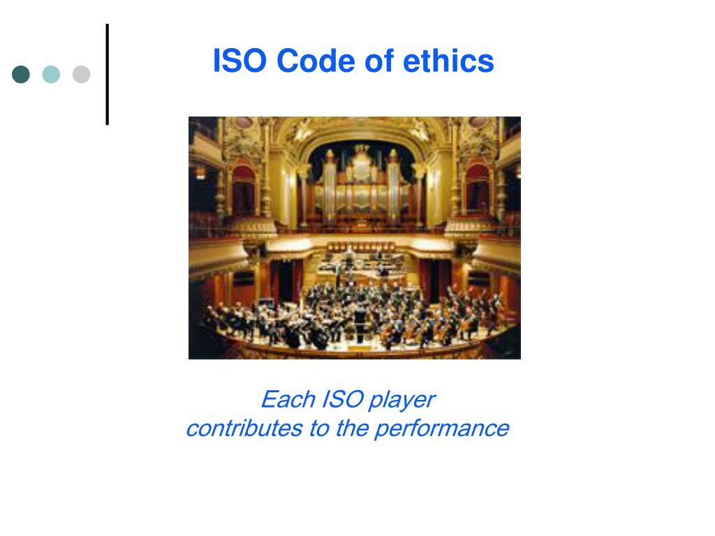 ISO Code of ethics