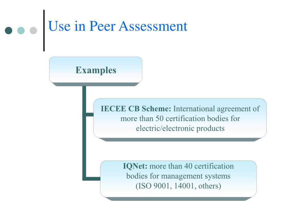 Use in Peer Assessment
