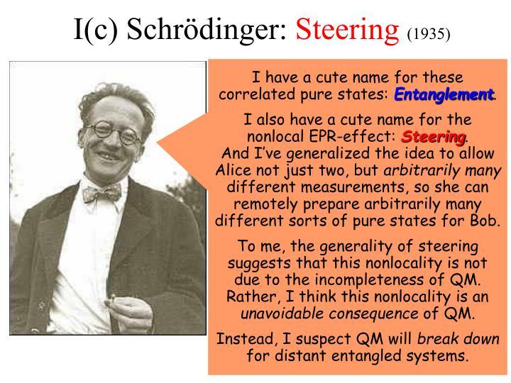 I(c) Schrödinger: