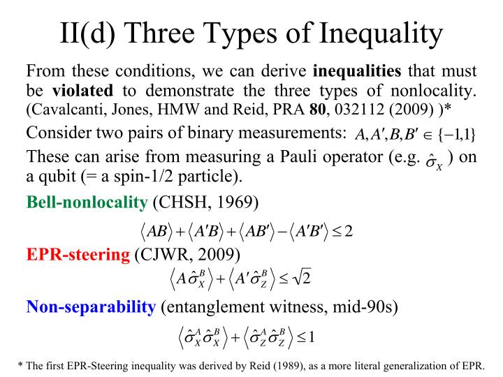 II(d) Three Types of Inequality