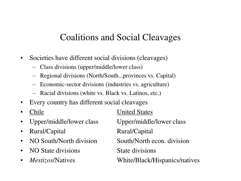 coalitions and social cleavages l.