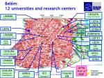 bel m 12 universities and research centers