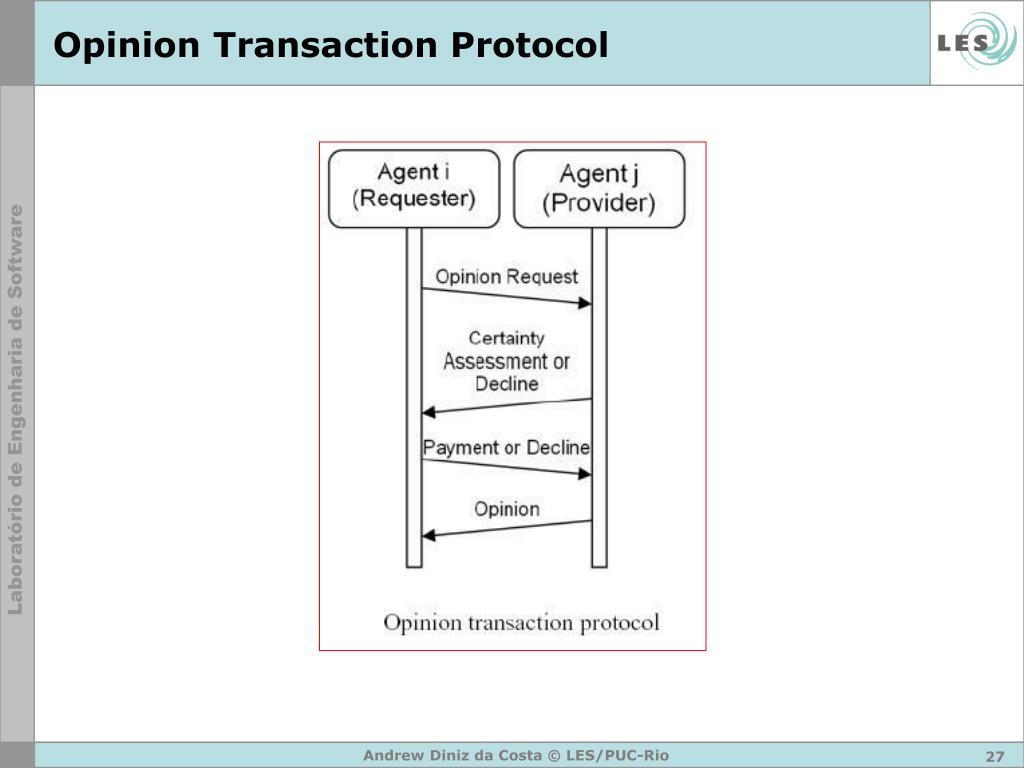 Opinion Transaction Protocol