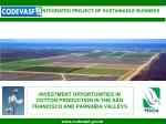 investment opportunities in cotton production in the s o francisco and parna ba valleys