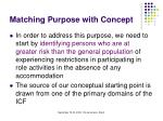 matching purpose with concept