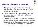 number of domains selected