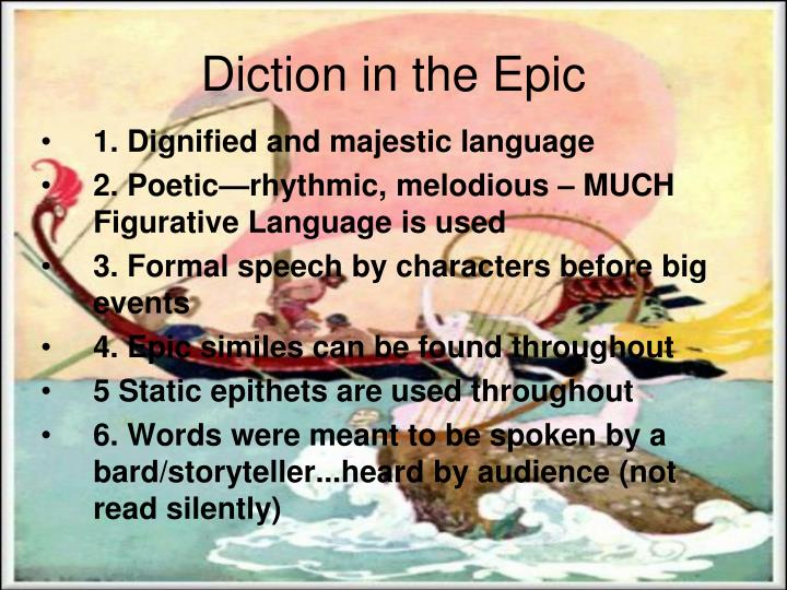 Diction in the Epic