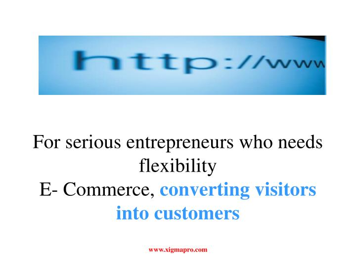 For serious entrepreneurs who needs flexibility e commerce converting visitors into customers