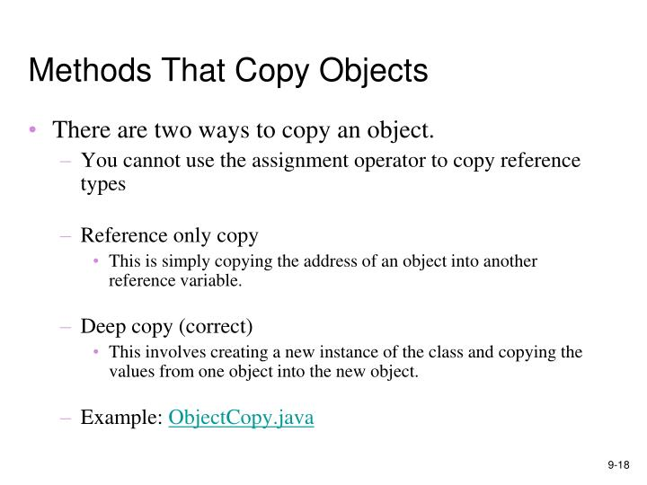 Methods That Copy Objects