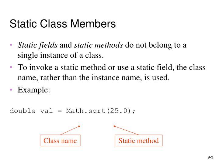 Static class members