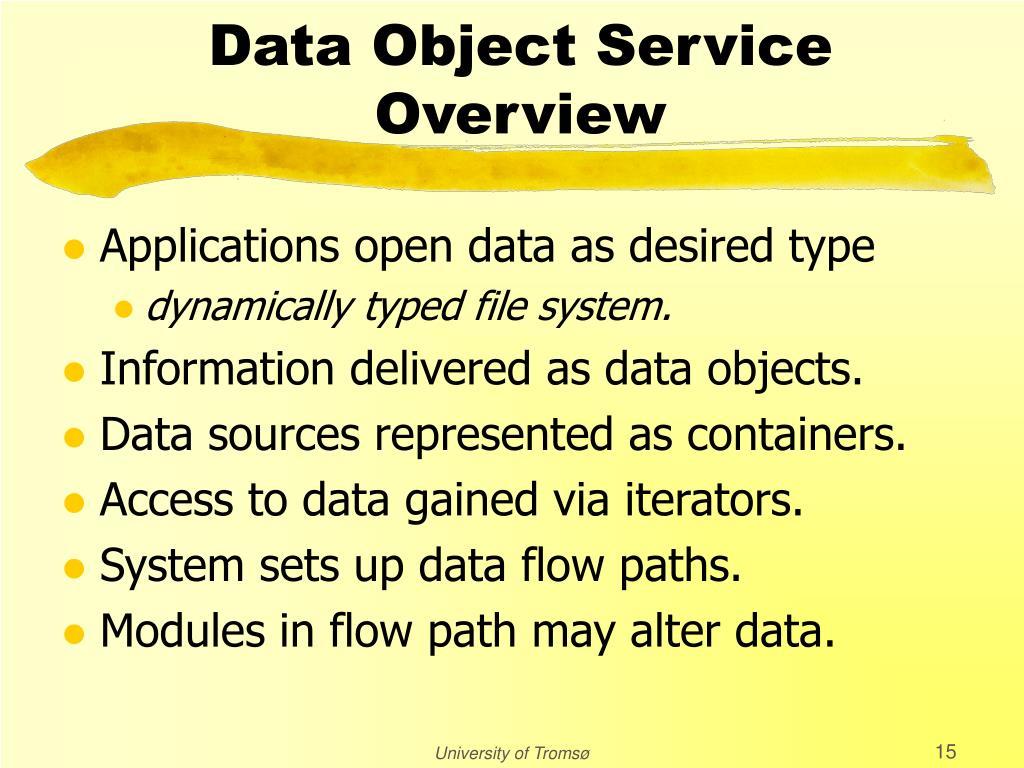 Data Object Service
