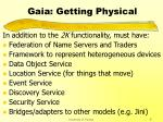 gaia getting physical