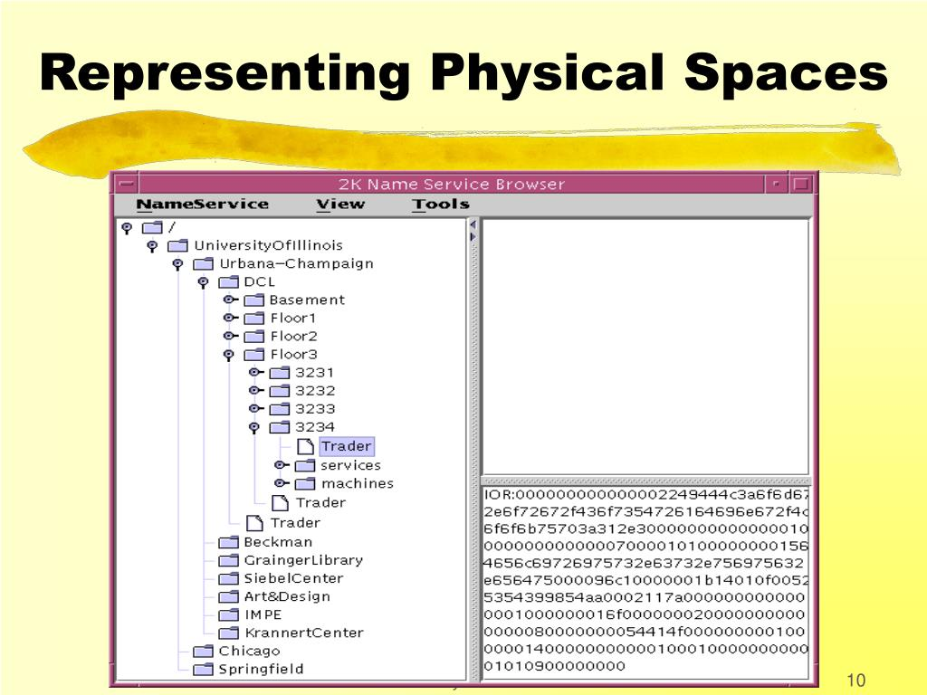Representing Physical Spaces