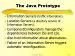 the java prototype