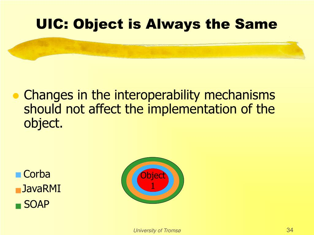 UIC: Object is Always the Same