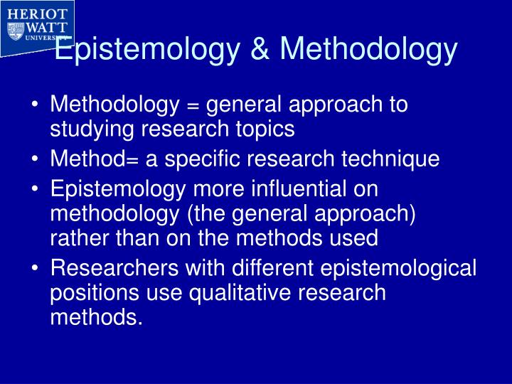 epistemological approach to research