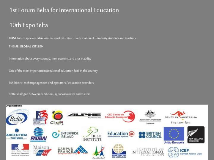 1st Forum Belta for International Education