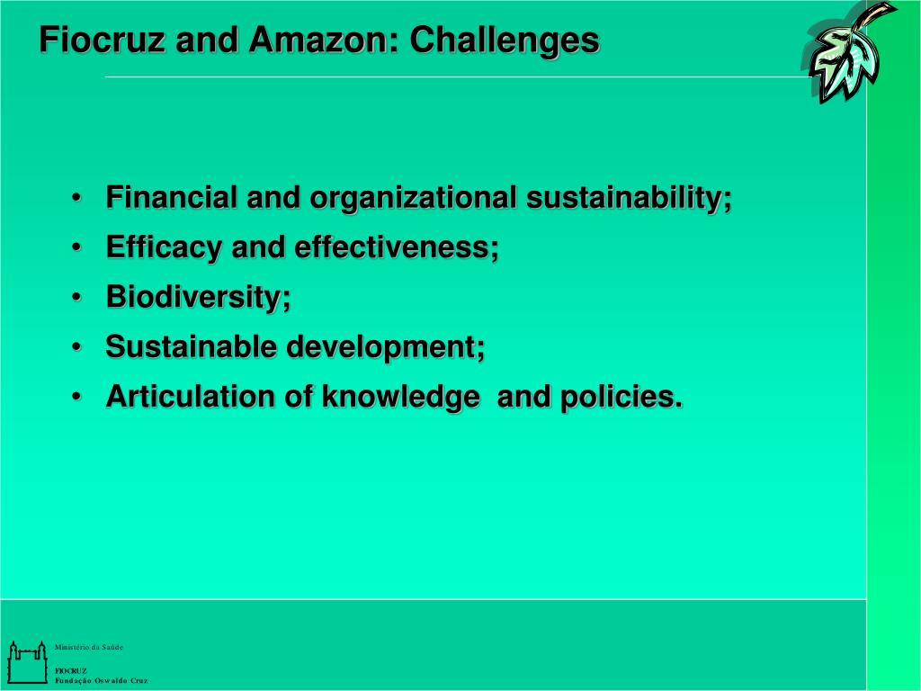 Fiocruz and Amazon: Challenges