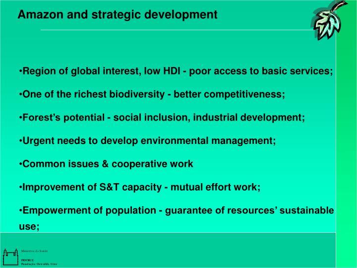 Amazon and strategic development