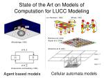 state of the art on models of computation for lucc modeling