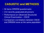 casuistic and methods