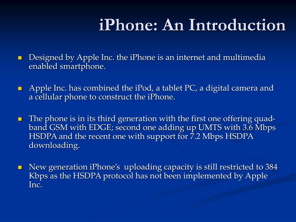 iPhone: An Introduction