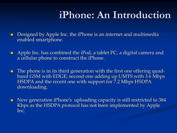 Iphone an introduction