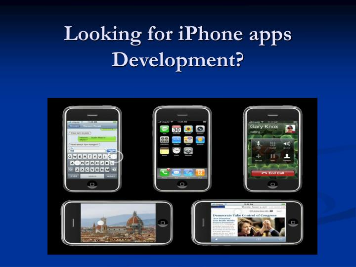 Looking for iphone apps development