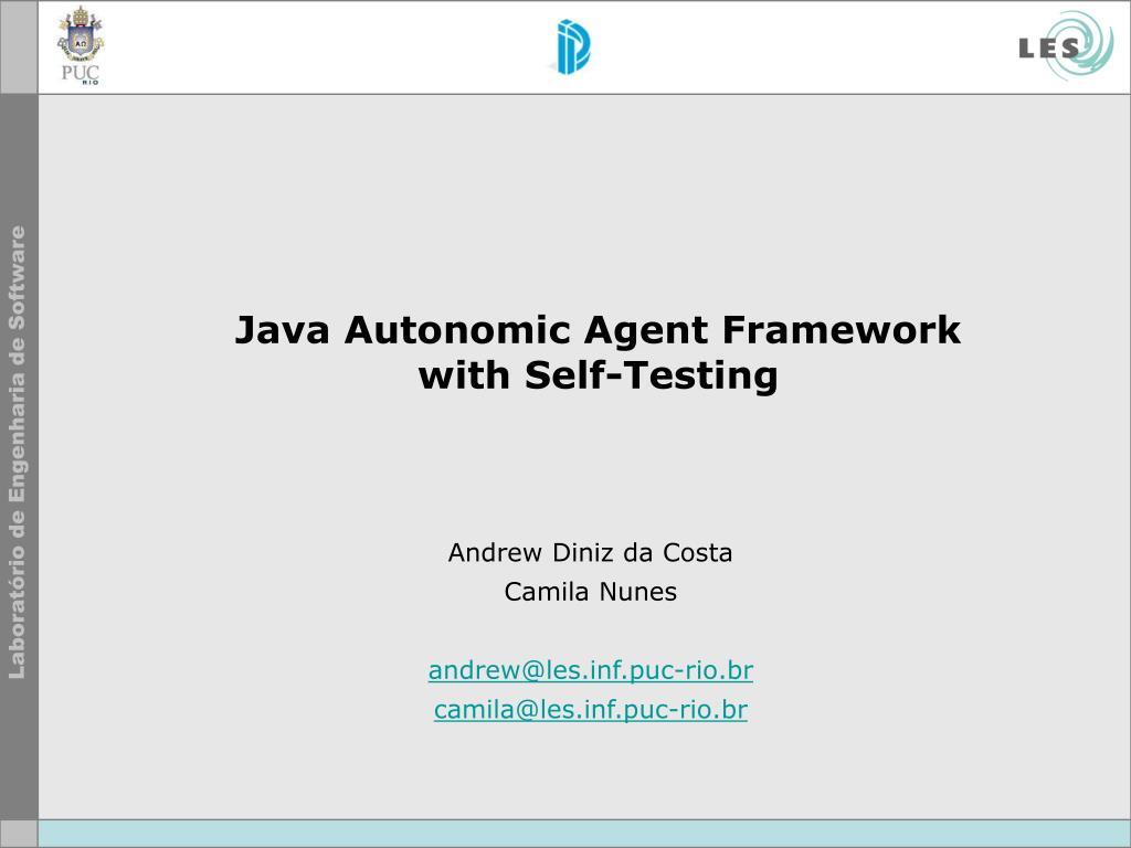 Java Autonomic Agent Framework