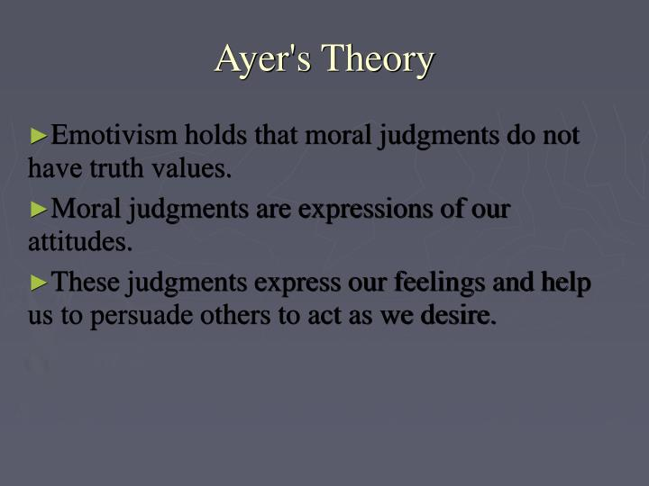 Ayer's Theory