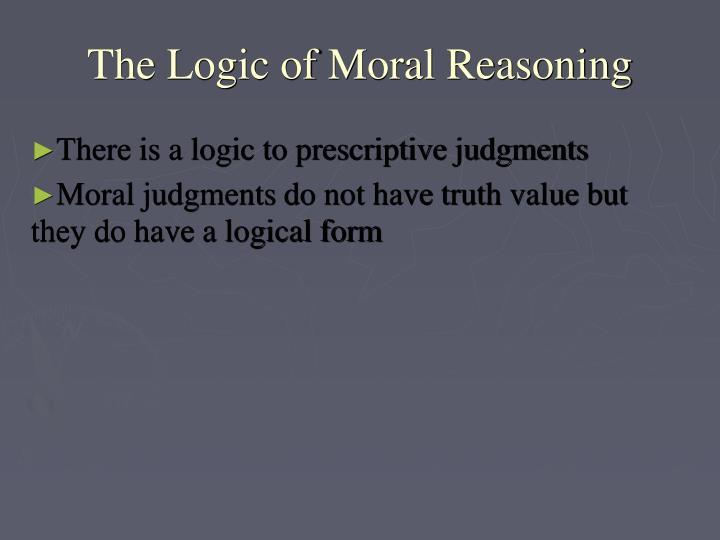 The Logic of Moral Reasoning
