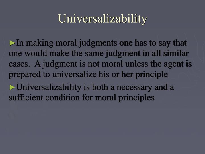 Universalizability