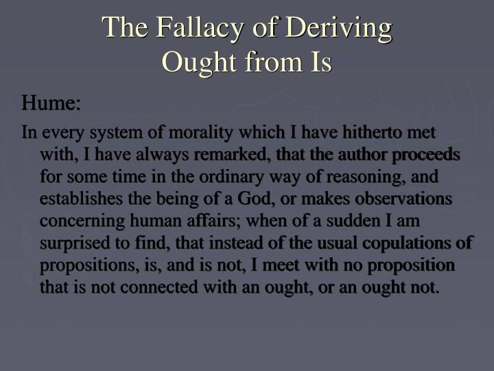 The Fallacy of Deriving