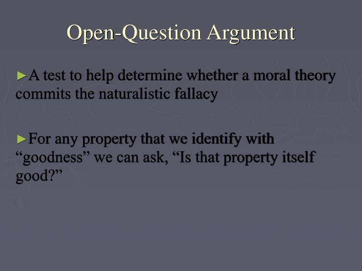 Open-Question Argument