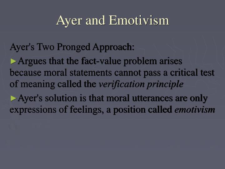 Ayer and Emotivism